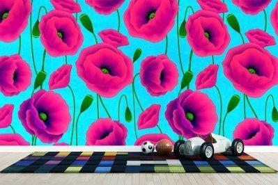 Poppies Wallpaper for Kids Room Carta da parati