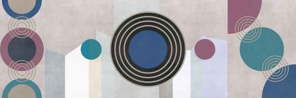Circles Relief Wallpaper Variante colore 1