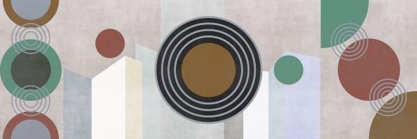 Circles Relief Wallpaper Variante colore 2