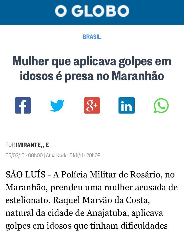 Por conta do caso que virou até notícia nacional, com destaques em jornais como O Globo