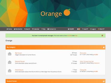 Orange Flat MyBB Theme
