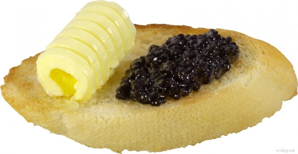 Обои бутерброд булочка черная икра масло для