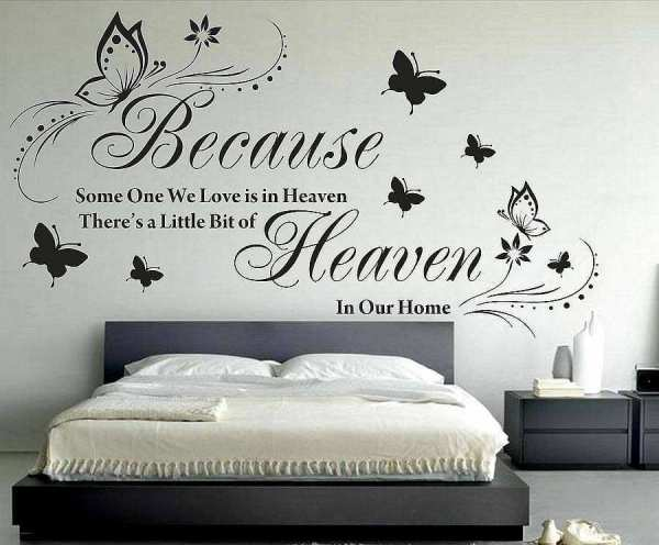Because some one is heaven quotes wall decals | Wall Stickers