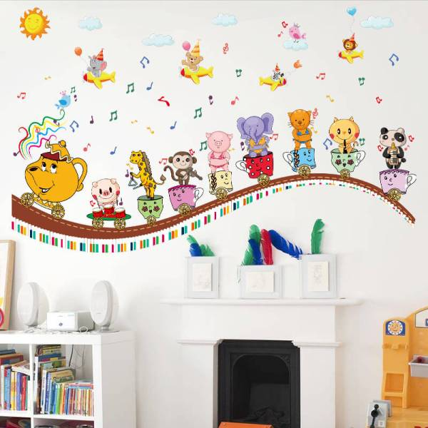 Kids Train Wall Stickers For Kids | Nursery | Wall Decals