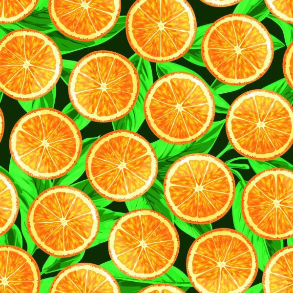 Обои для кухни Оранжевые апельсины на заказ №32949 | Walldeco