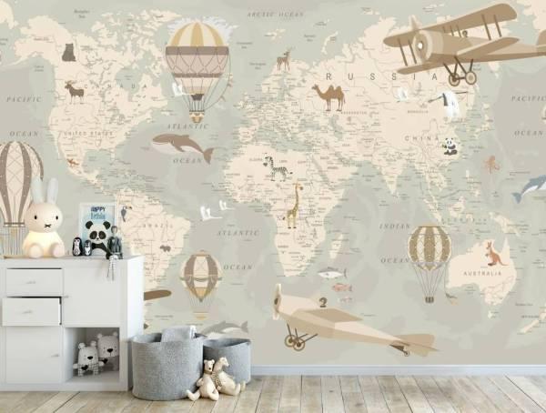 Фотообои Карта с картинками 31740 купить в Украине ...