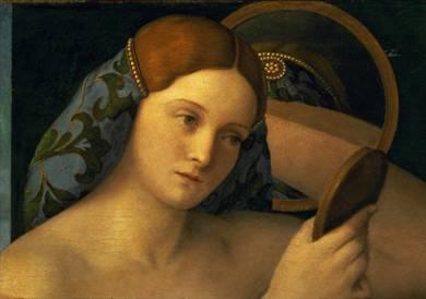 Giovane donna nuda allo specchio - Bellini 1515