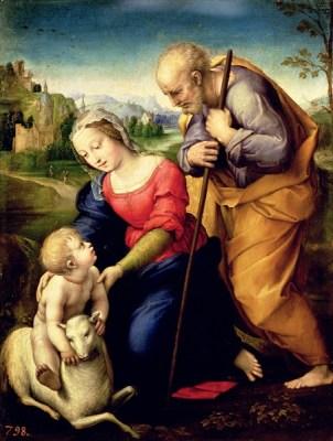 Sacra Famiglia con l'agnello - Raffaello 1507