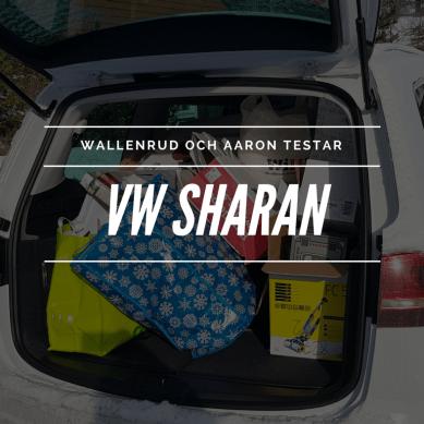 Wallenrud och Aaron testar VW Sharan – familjebilen