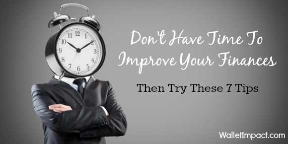 Don't have time to improve your finances