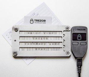 Trezor with Cryptosteel