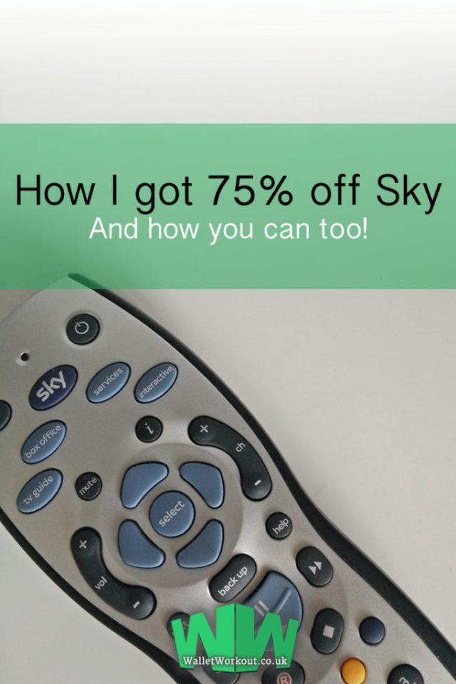 How I got 75% off Sky