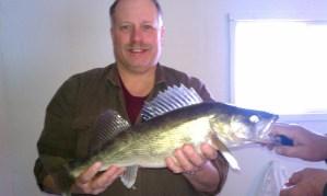 Dan Mazuk shows off a nice Rainy River walleye.