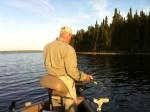 Gary Speicher walleye fishing on Lac Seul