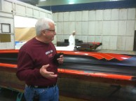 Dennis takes us through the hull manufacturing process.