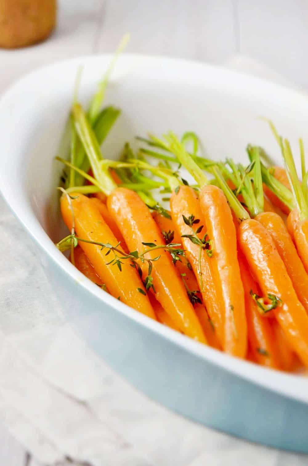 Orange Thyme Glazed Carrots (Vegan + GF)