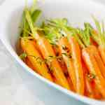 Orange Thyme Glazed Carrots (Vegan + GF)