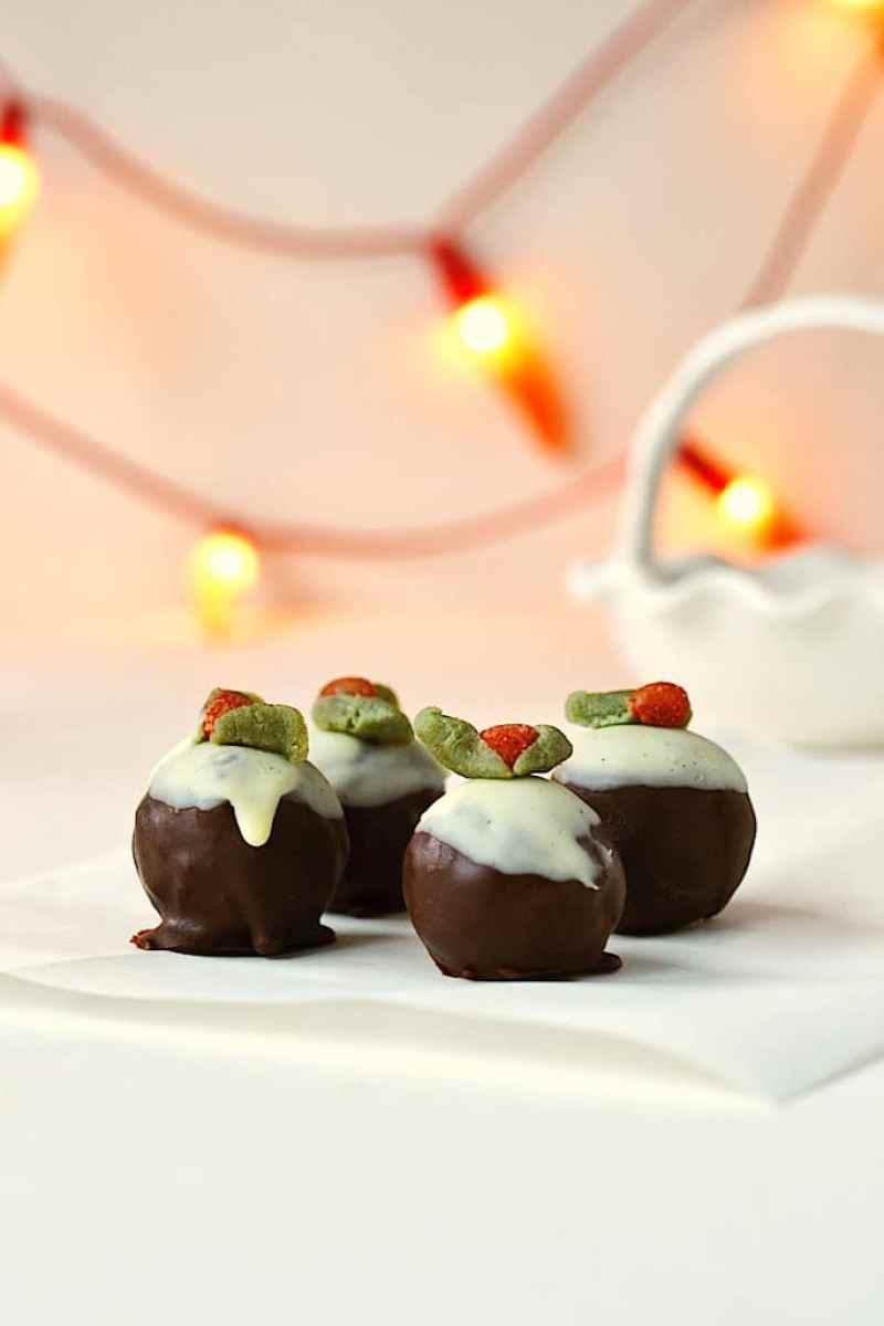 Christmas Pudding Bites ❄ {Raw, Gluten-free, Vegan}