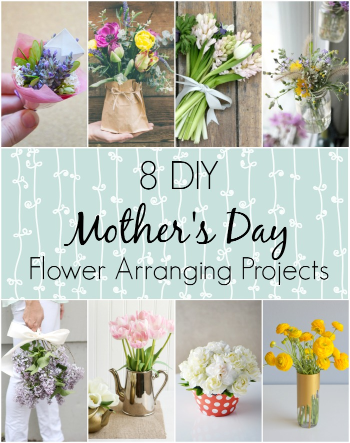 8 diy flower arranging projects for mother's day - wallflower kitchen