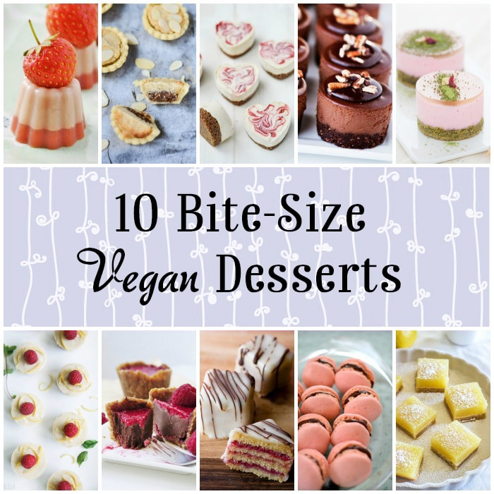 10 Mini Vegan Desserts - Perfect for parties and afternoon tea! - WallflowerGirl.co.uk #vegan