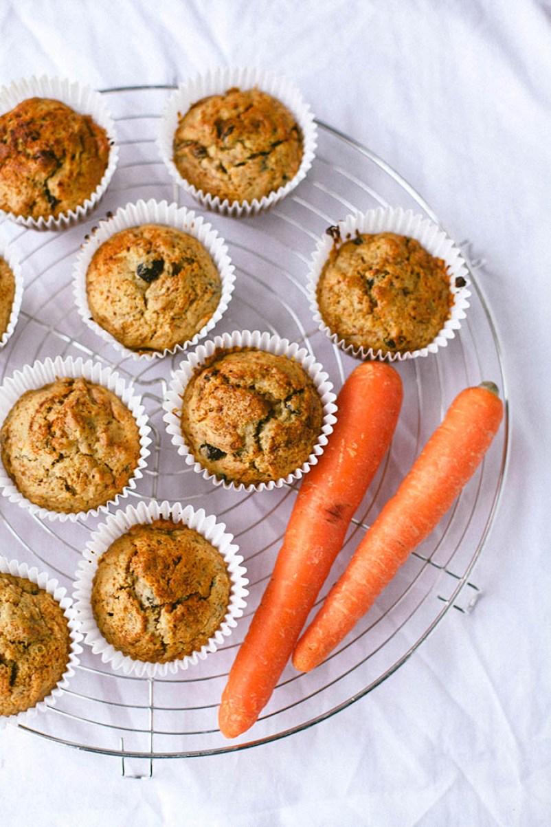 Carrot Cake Breakfast Muffins   Wallflower Girl #vegan #wheatfree
