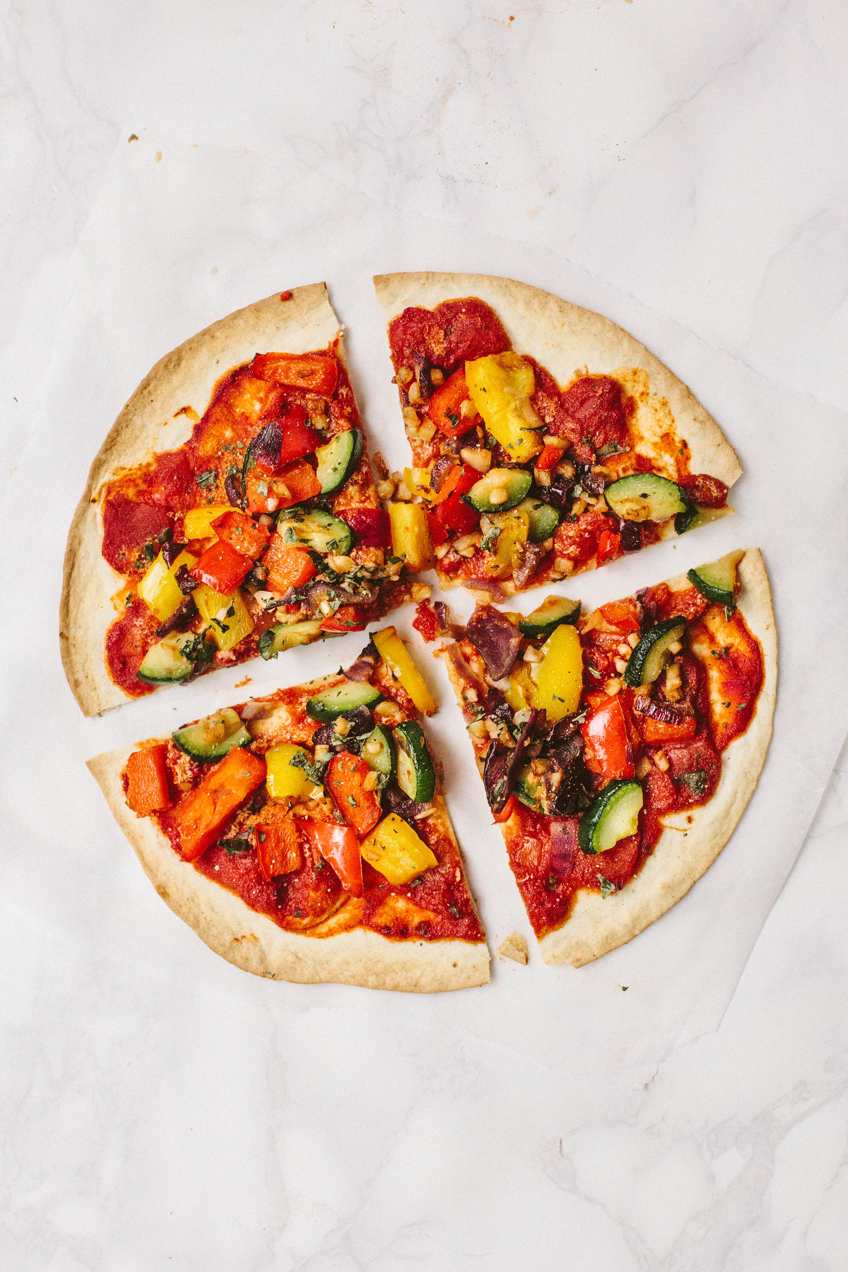 Vegan Tortilla Vegetable Pizza Wallflower Kitchen