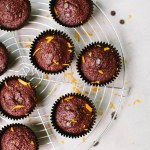 100 calorie chocolate orange muffins! Vegan, low fat & wheat free