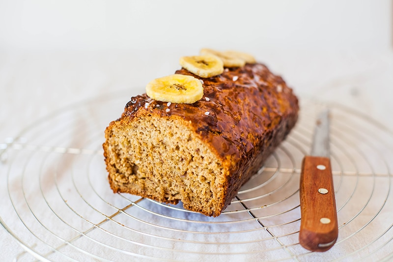 Salted Caramel Banana Bread - #Vegan #Wheatfree and #Fatfree