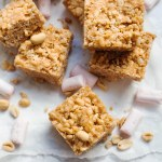 Vegan Peanut Butter & Marshmallow Rice Krispie Treats