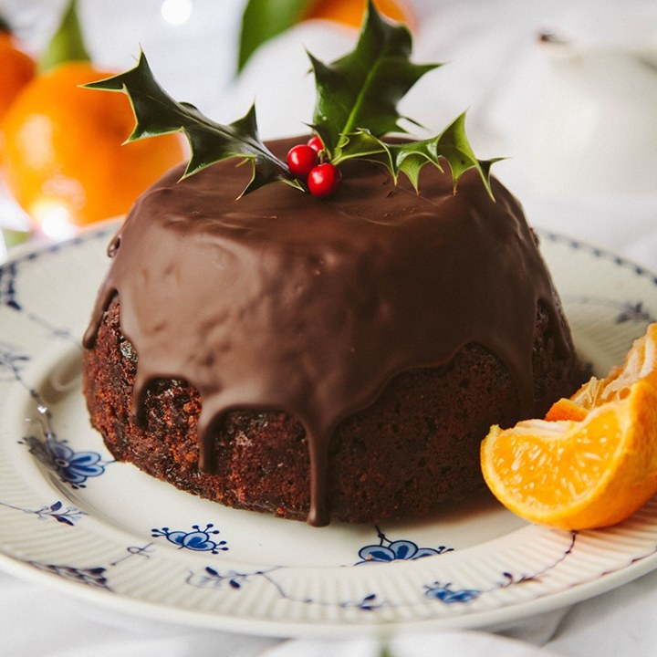 Chocolate Orange Christmas Pudding #Vegan