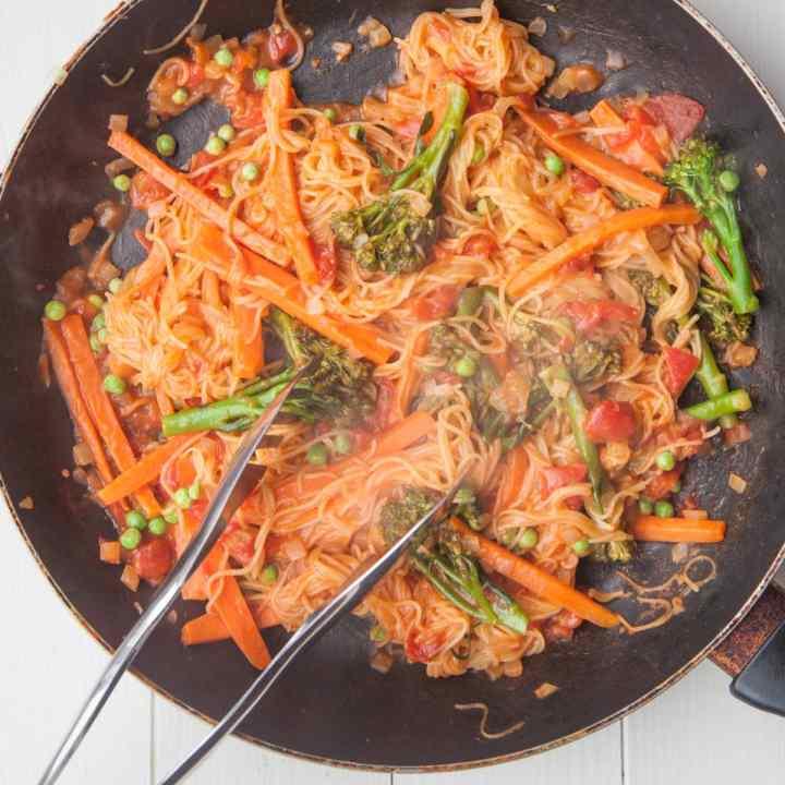 One-Pan Pasta Primavera from 'Plant-Based Cookbook'