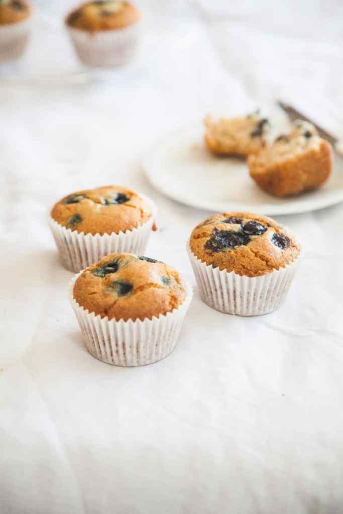 Blueberry Muffins (Gluten-free & Vegan)