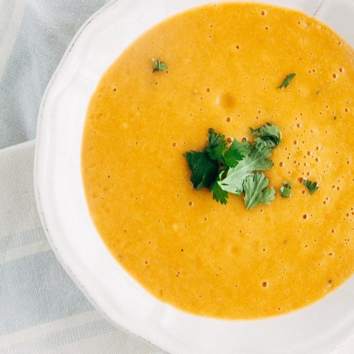 Carrot & Corriander Soup (Vegan)