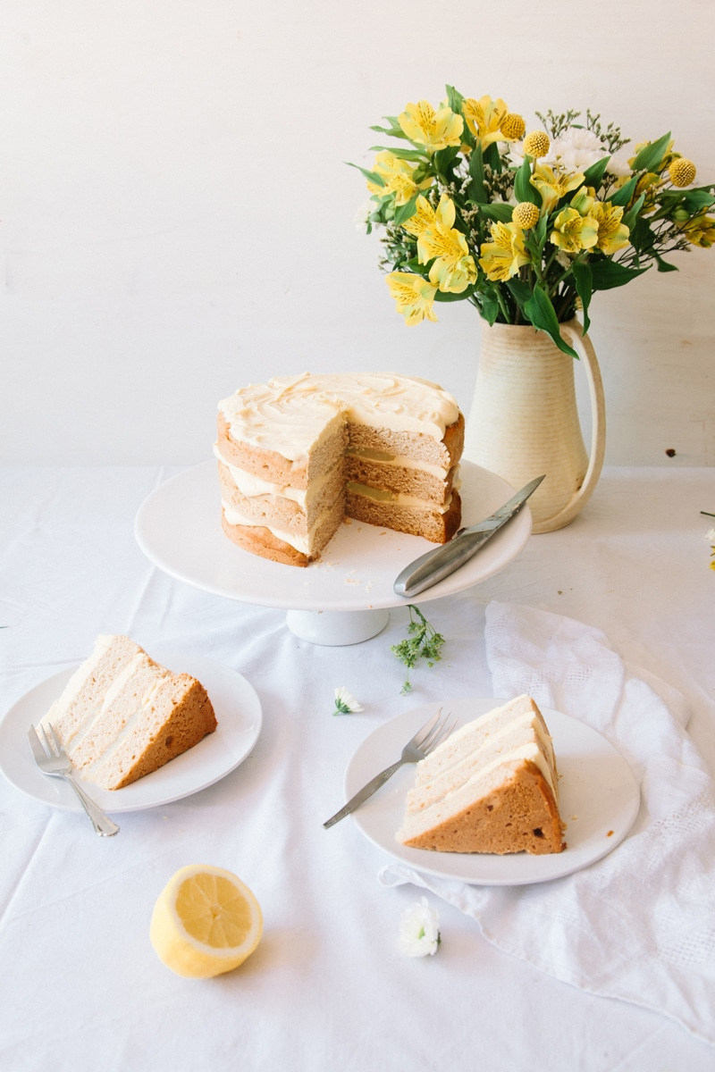 Vegan Elderflower Cake with Lemon Curd & White Chocolate Frosting ...