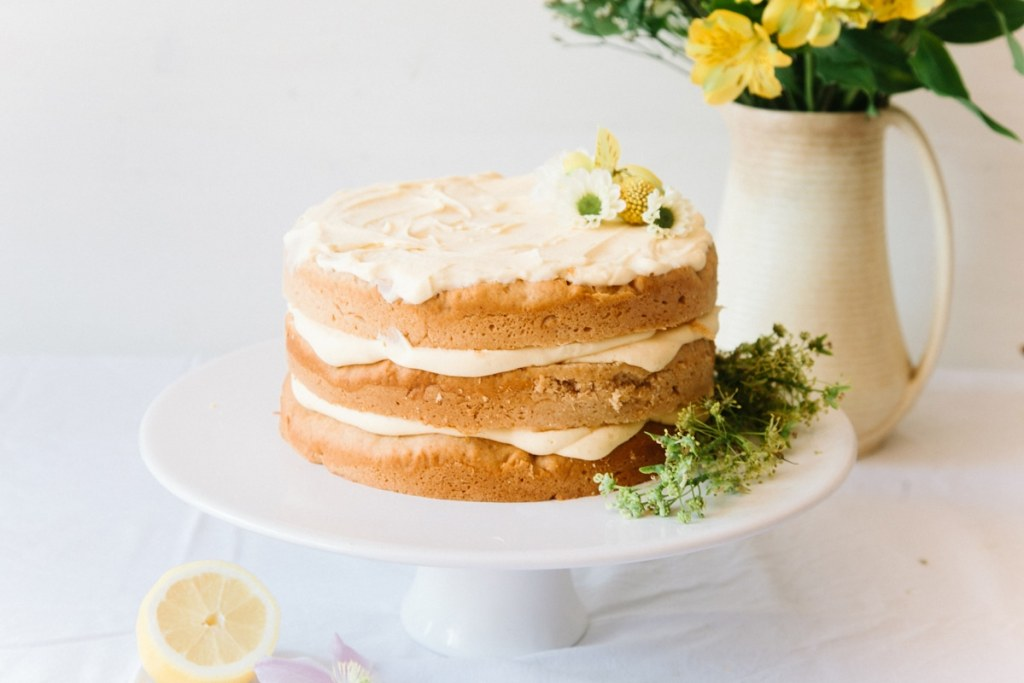 Vegan Cake Decorations Uk : Vegan Elderflower Cake with Lemon Curd & White Chocolate ...