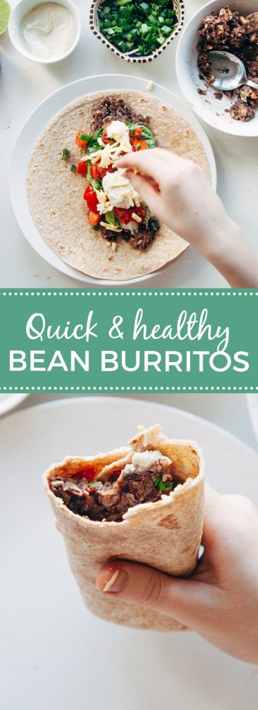 Quick & Healthy Bean Burritos