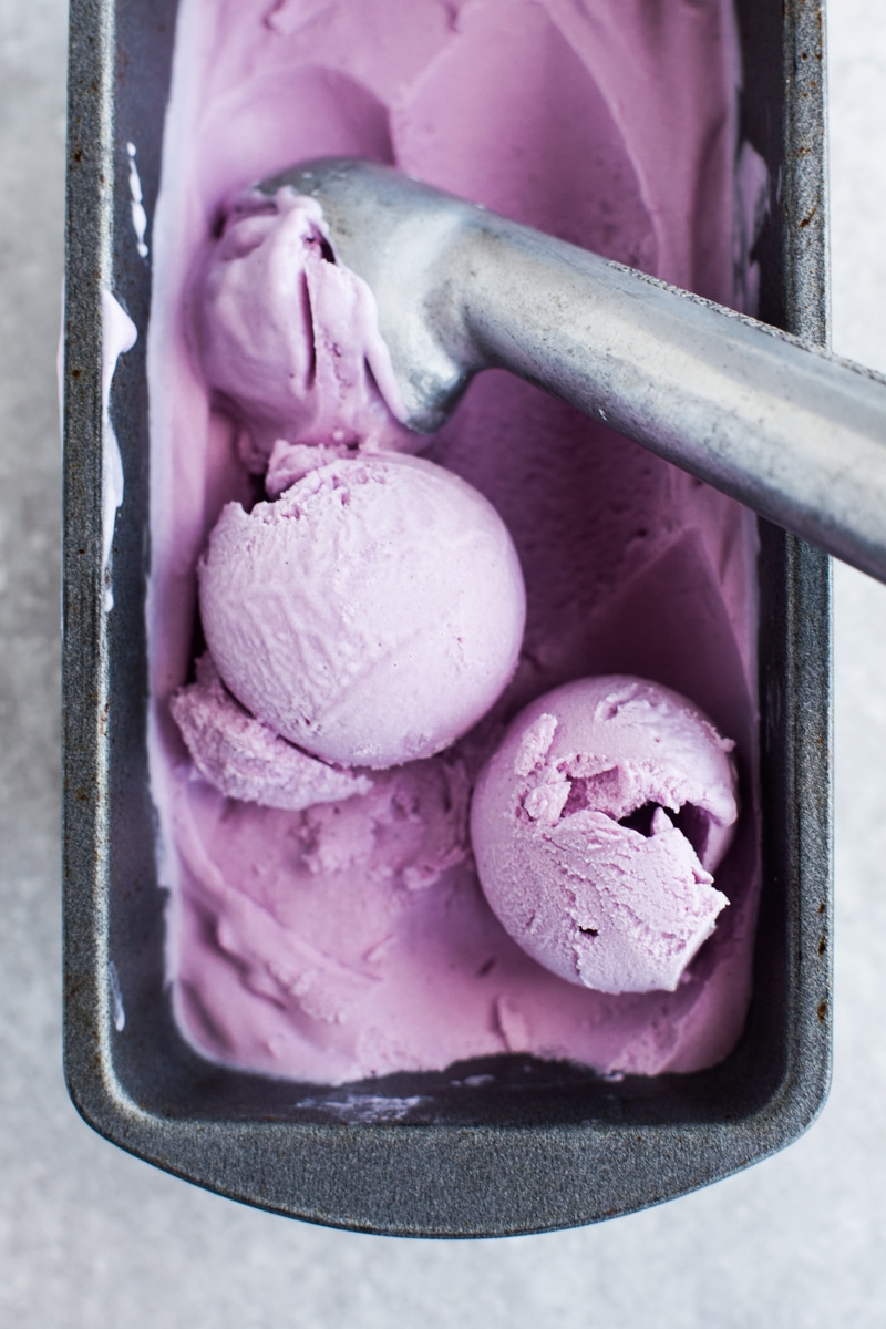 COCONUT & PURPLE SWEET POTATO ICE CREAM