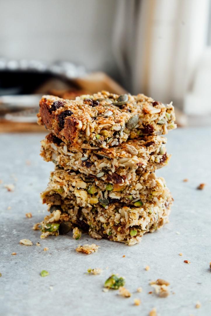 Protein Breakfast Bars (Vegan + Paleo)