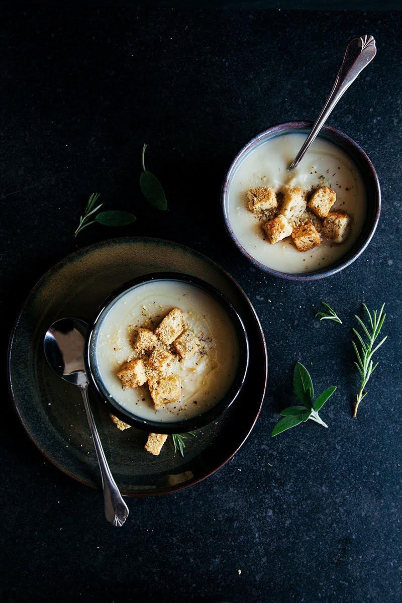 Maple Roasted Parsnip & Celeriac Soup