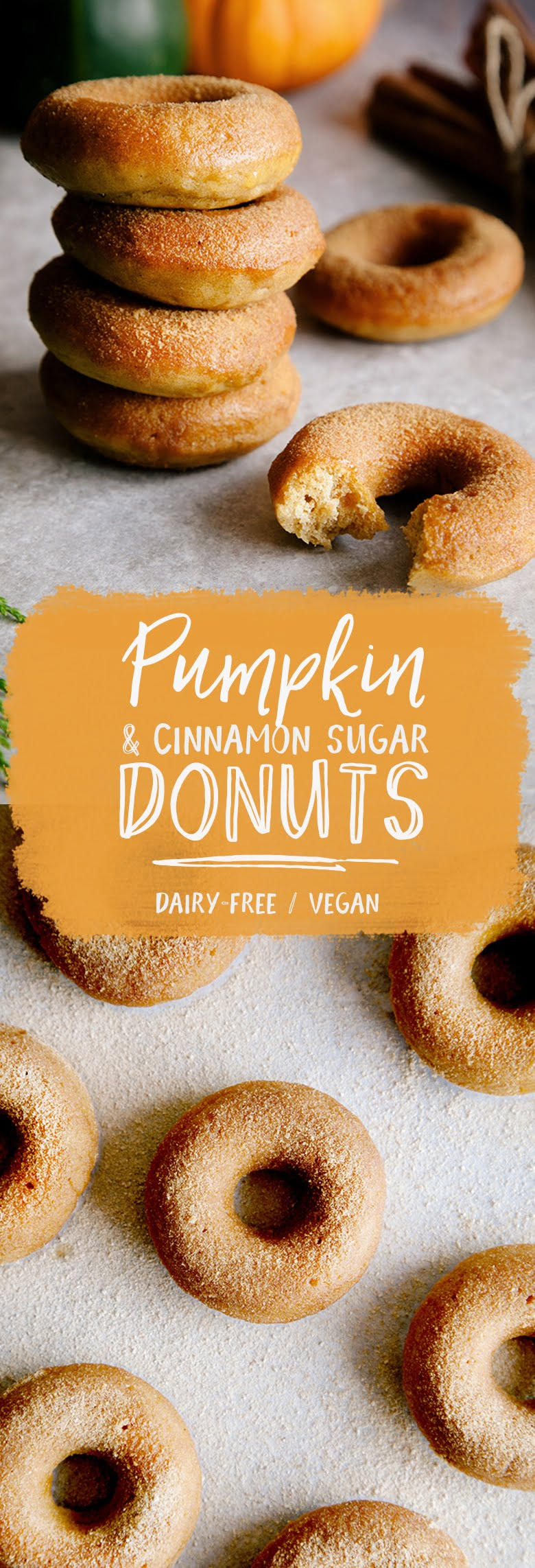 Mini Pumpkin & Cinnamon Sugar Donuts (Vegan)