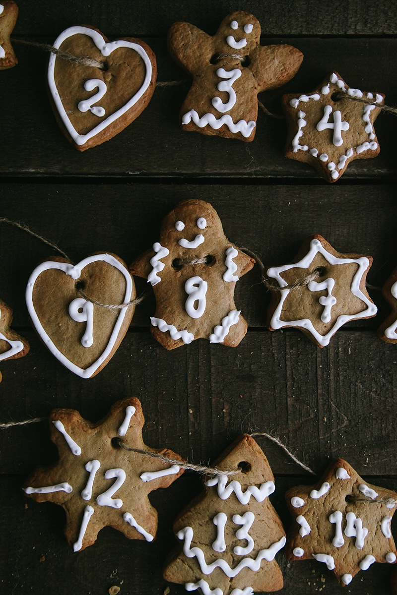 Gingerbread Advent Cookies (Vegan)