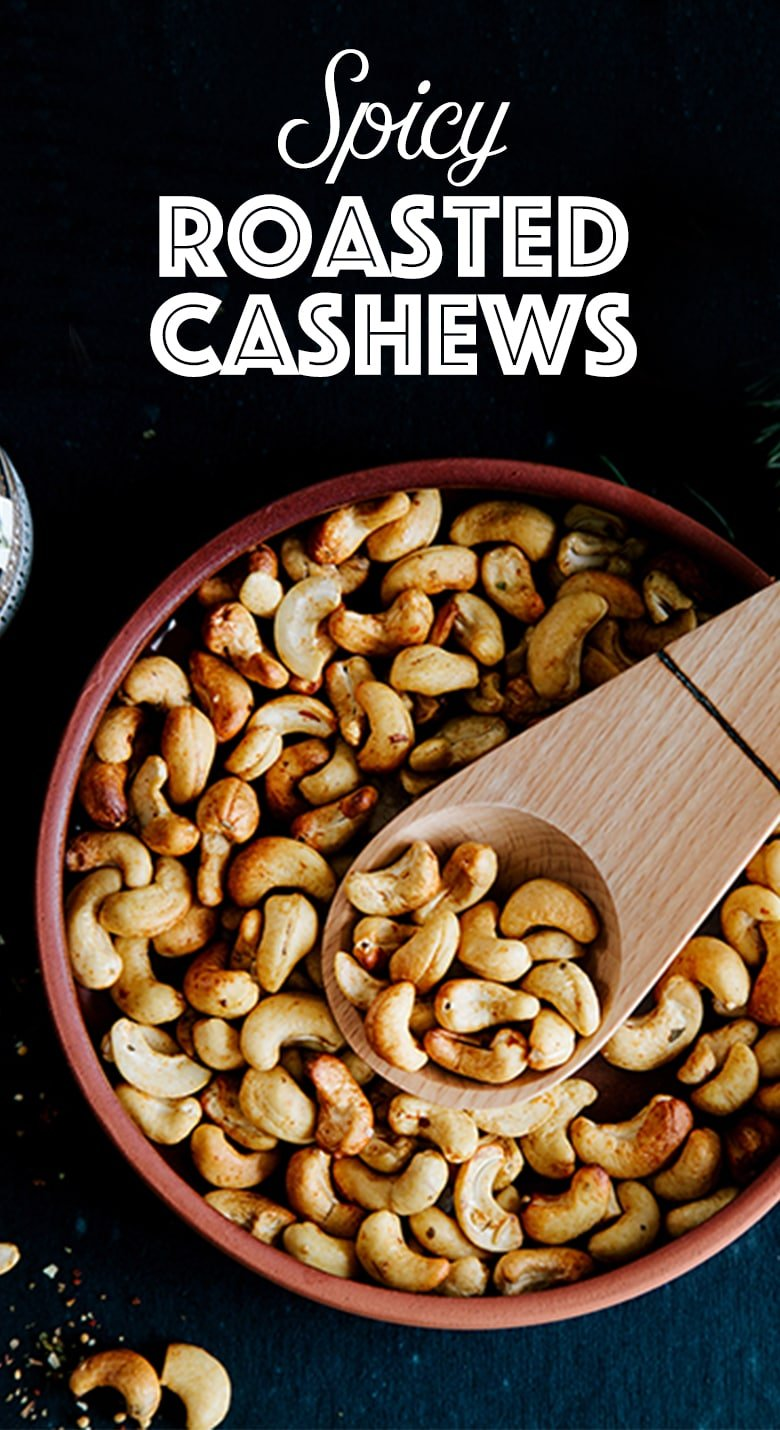 Easy Spicy Roasted Cashews (Gluten-free)