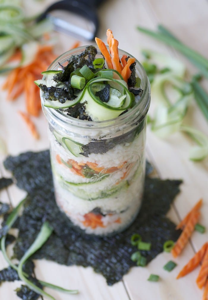 Sushi in a Jar via feastingonfruit.com