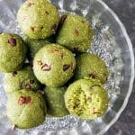 Matcha Mint Chocolate Chip Cookie Dough Bites