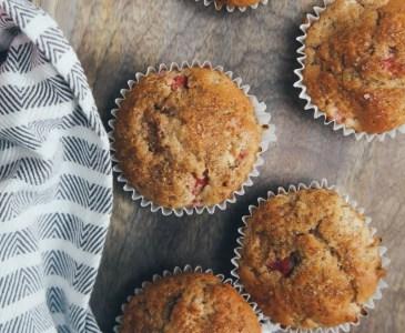 Rhubarb & Ginger Muffins (Vegan)