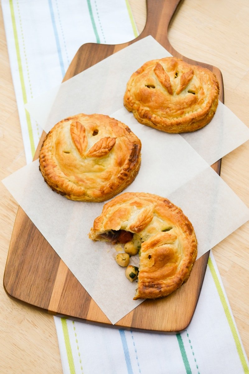 Chickpea Vegetable Picnic Pies via tinnedtomatoes.com