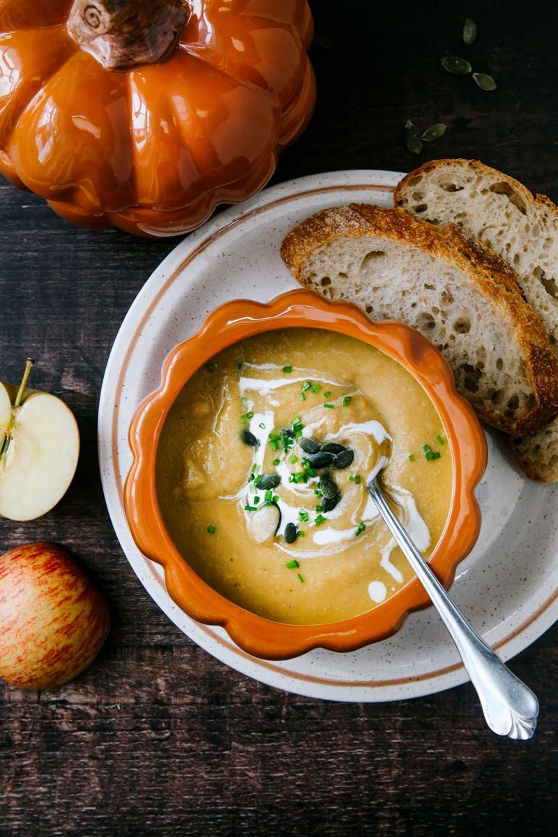 Pumpkin, Apple & Ginger Soup