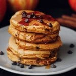 Fluffy Chocolate Chip Pumpkin Pancakes (Vegan)