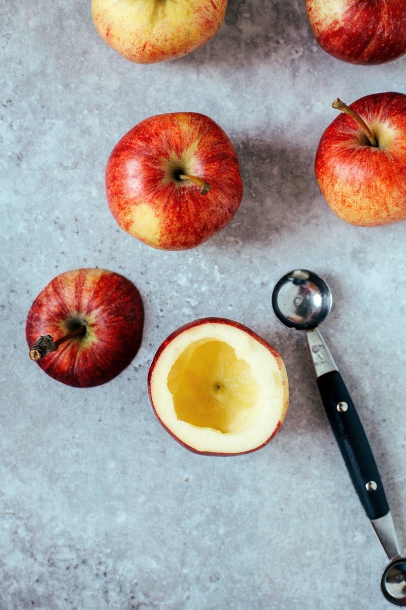 """Pressure Cooked """"Baked"""" Apples! (Vegan + GF)"""