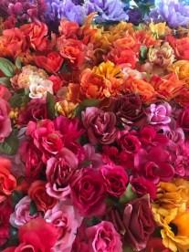 magenta flower wall